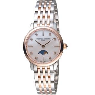 【CONSTANT 康斯登】經典超薄月相女腕錶(FC-206MPWD1S2B)
