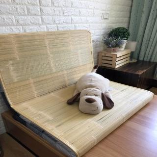 【AndyBedding】MIT鋪棉刮青竹蓆床墊-單人加大3.5尺(竹蓆床墊)