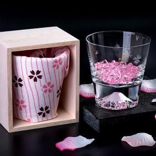 【田島硝子】富士山杯 櫻花限量款 威士忌杯 隨飲料變色 酒杯(TG16-015-RS)