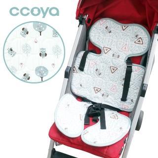 【BabyTiger 虎兒寶】Ccoya 韓國製寶寶推車四季通用3D坐墊 -(森林貓頭鷹)