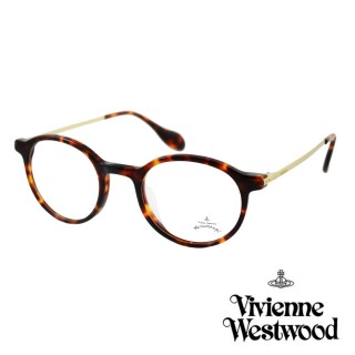 【Vivienne Westwood】英國Anglomania英倫簡約光學眼鏡(琥珀 AN341M02 12HR)