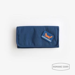 【Romane】Brunch Brother 收納包 - 深藍(鈔票零錢包/護照包/3C收納包/文具袋/化妝包/萬用包)