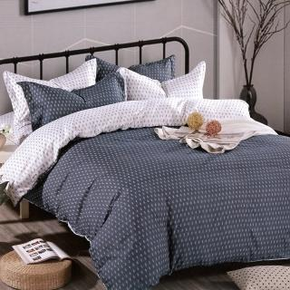 【TRP】柔絲絨加大四件式印花兩用被床包組 簡約(天絲絨)