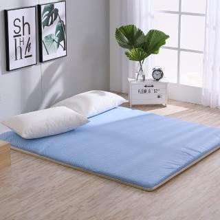 【LAMINA】雙竹兩用透氣床墊-水玉點點-藍(雙人)