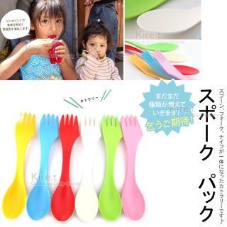 【kiret】兒童外出專用 三合一 刀叉匙餐具 超值12入(刀子、叉子、湯匙三合一 攜帶方便 環保衛生)