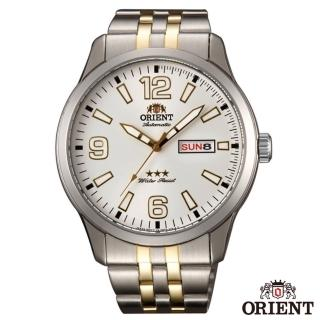 【ORIENT 東方錶】OLD SCHOOL 經典 大數字時標石英腕錶-白x43mm(SAB0B005WB)