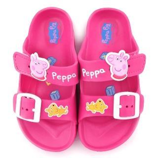 【童鞋城堡】佩佩豬 輕量造型拖鞋 粉紅豬小妹(PG0051-桃)
