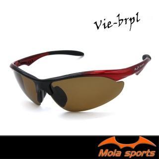 【MOLA】摩拉偏光運動太陽眼鏡 UV400 男女可戴 Vie-brpl(超輕量 20.2g!超好戴~ 自行車 跑步 棒球)