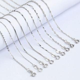 【Angel】S925銀時尚簡約十字蛇骨水波瓜子元寶滿天星多造型男女百搭項鍊(8款可選)