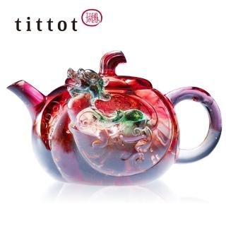 【tittot 琉園】金運茶韻 琉璃 擺飾(茶壺)