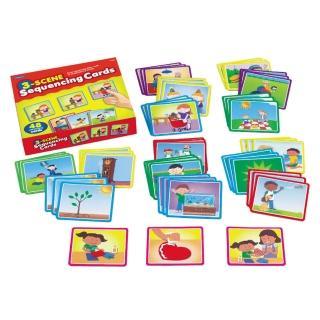 【Lakeshore】3步驟順序故事卡 益智遊戲幼兒園保姆(益智成長 邏輯建構 原裝進口)