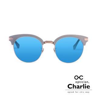 【Optician Charlie】韓國亞洲專利 RP系列太陽眼鏡(灰+水銀藍鏡面  RP GUN)