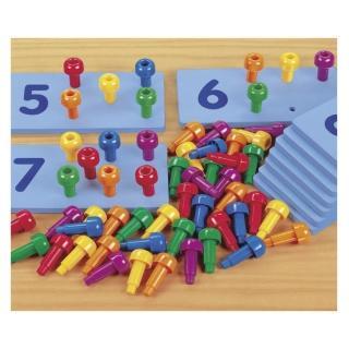 【Lakeshore】點數插棒 數數加法計算點數幼兒園(益智成長 邏輯建構 原裝進口)
