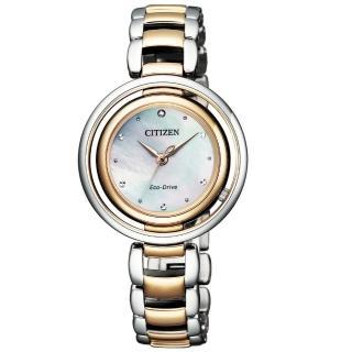 【CITIZEN 星辰】L系列優雅風采光動能腕錶(EM0666-89D)