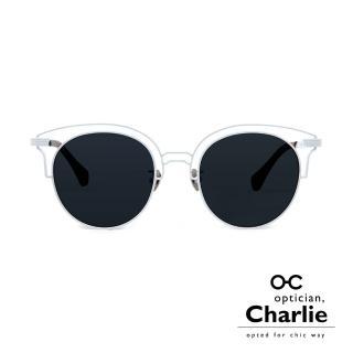 【Optician Charlie】韓國亞洲專利 NPC系列太陽眼鏡(白 NPC WT - 雜誌款)