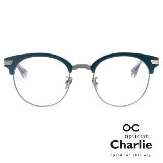 【Optician Charlie】韓國亞洲專利光學眼鏡FP系列(藍 + 銀 FP BL)