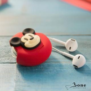 【Bone】Cord Pocket 收線扣 - 米奇(無毒認證矽膠 收線器 捲線)