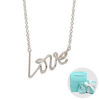 【Tiffany&Co. 蒂芙尼】PALOMA S GRAFFITI LOVE英文字母純銀項鍊