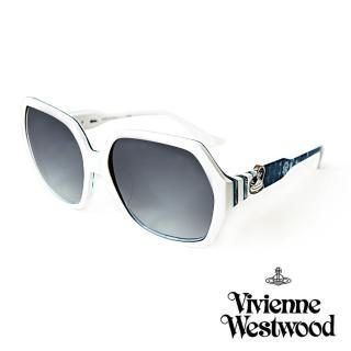 【Vivienne Westwood】英國薇薇安魏斯伍德 英倫龐克太陽眼鏡(海洋藍/白  VW788)