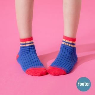 【Footer】小小英雄局部氣墊襪(ZH190L-藍)