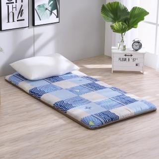 【LAMINA】雅蓆兩用床墊-藍色水波5cm(雙人)