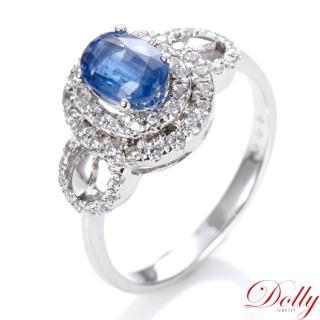 【DOLLY】天然 1克拉藍晶石 銀飾戒指