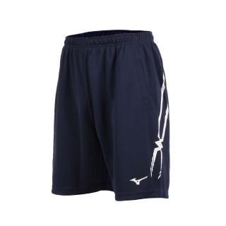 【MIZUNO 美津濃】男排球短褲- 運動短褲 五分褲 慢跑 路跑 美津濃 丈青白(V2TB7A0614)