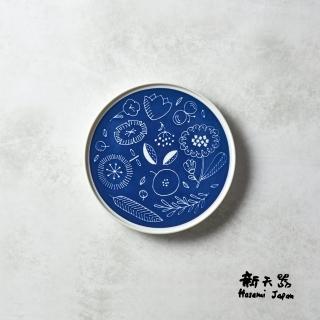 【石丸】波佐見燒 - 北歐花園淺盤 - 湛藍(小)