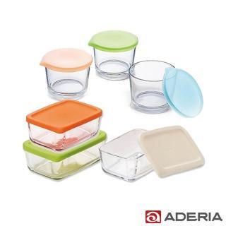 【ADERIA】日本進口收納玻璃盒/罐 6件套組(400ML*3 +275ML*3)