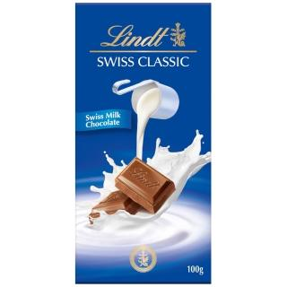 【Lindt 瑞士蓮】經典牛奶巧克力 100g(牛奶巧克力)