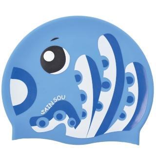 【SAIN SOU 聖手牌】兒童專用印花矽膠泳帽(A35411)