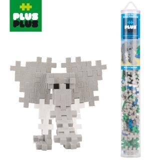 【BabyTiger 虎兒寶】++PLUS-PLUS 加加積木 MINI 小顆粒-彩虹系列(100PCS 大象 - 透明管裝)