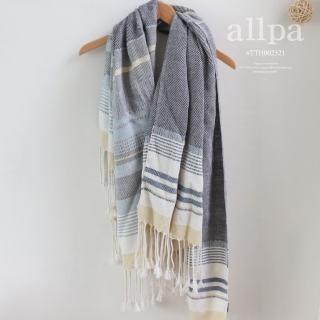 祕魯手工製珍稀羊駝披肩 大尺寸圍巾(日光黃)