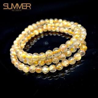 【SUMMER寶石】鈦晶念珠 可繞三圈(隨機出貨)