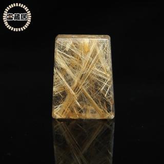 【富藏居】天然水晶鈦晶平安無事牌(19.3G)
