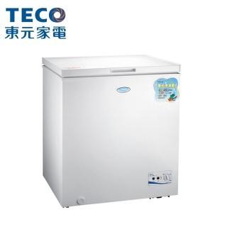【TECO 東元】★送康寧餐盤組★ 138公升 上掀式單門冷凍櫃(RL1417W)