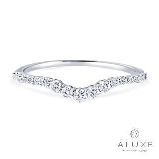 【ALUXE亞立詩】18K金V型鑽石線戒