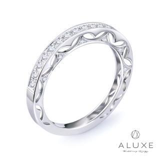 【A-LUXE 亞立詩】18K金Love Story 系列鑽石線戒
