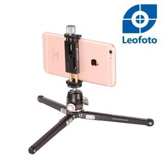 【Leofoto 徠圖】桌面多功能三腳架(含手機夾)-MT02+MBH19+PC90