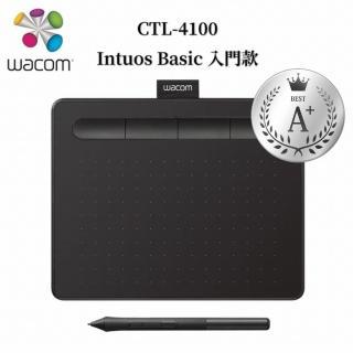 【Wacom】福利品★Intuos Basic 入門繪圖板-黑(CTL-4100WL/K0-CA)