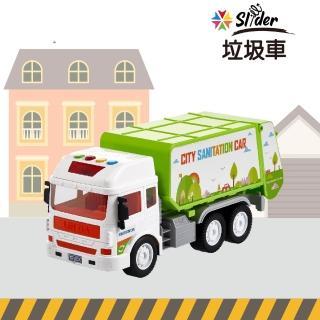 【Slider】聲光磨輪工程車(垃圾車)