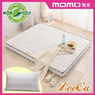 【送棉枕x2】法國防蹣防蚊天絲頂級12cm獨立筒床-輕量型(加大6尺)