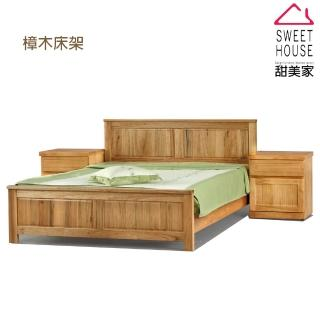【甜美家】全樟木實木雙人加大6尺床架(全樟木實木製)