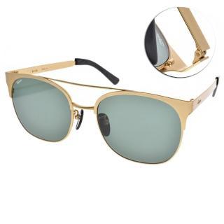 【FAKE ME 太陽眼鏡】韓系復古雙槓款(金-綠鏡片#SILVIO GLD)