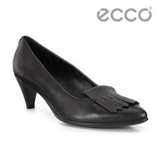 【ecco】ECCO SHAPE 45 POINTY SLEEK流蘇尖頭正裝高跟鞋 女(黑 26267311001)