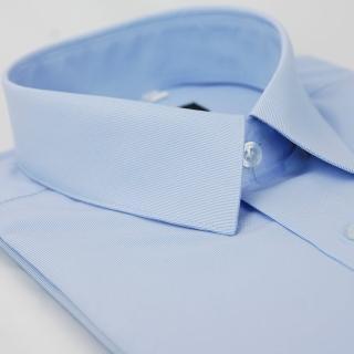 【金安德森】藍色窄版長袖襯衫-fast