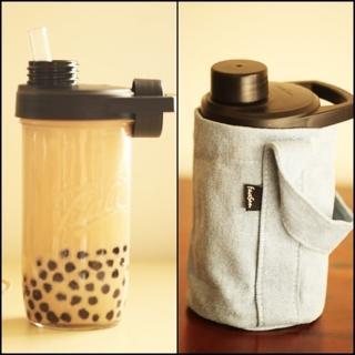 【FaceSun玻璃工藝管】SKY 玻波杯 玻璃杯 梅森杯 玻璃吸管 彈跳吸管水壺(贈送小珍珠彈跳吸管/牛仔杯套)