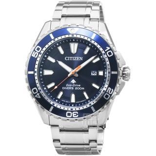 【CITIZEN 星辰】星辰ECO-DRIVE光動能潛水鋼帶男錶-藍(BN0191-80L)