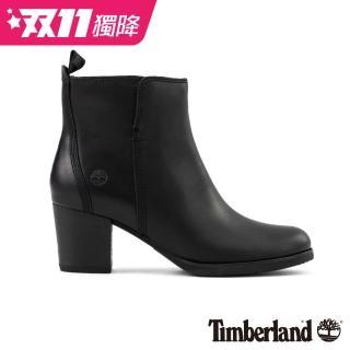 【Timberland】女款黑色全粒面皮革Eleonor Street 休閒鞋(A1PZ5015)