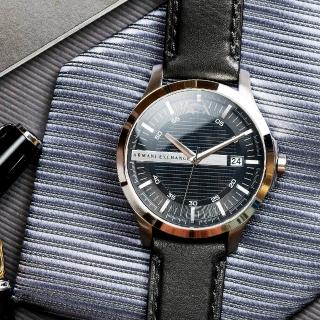【ARMANI EXCHANGE】經典紳士格紋時尚腕錶(AX2101)